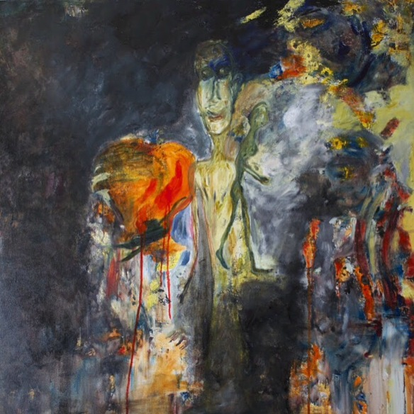 Exhibition Neauphle - le - Château Paris 2017 First prize for both paintings Oil on linen 100 X 100 cm